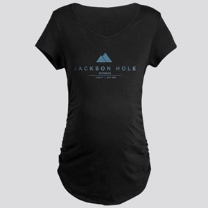 Jackson Hole Ski Resort Wyoming Maternity T-Shirt