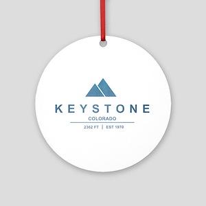 Keystone Ski Resort Colorado Ornament (Round)
