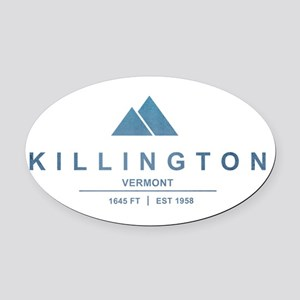 Killington Ski Resort Vermont Oval Car Magnet
