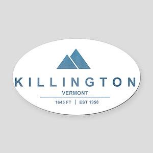 Killington Ski Resort Vermont Oval Car Magnet