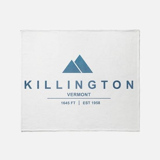 Killington Ski Resort Vermont Throw Blanket