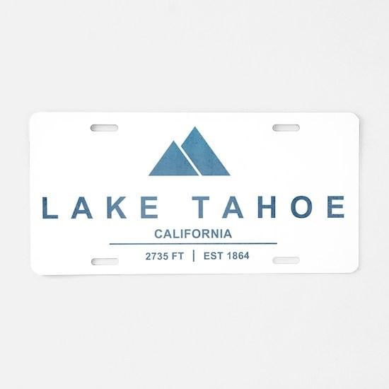 Lake Tahoe Ski Resort California Aluminum License