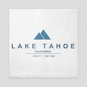Lake Tahoe Ski Resort California Queen Duvet
