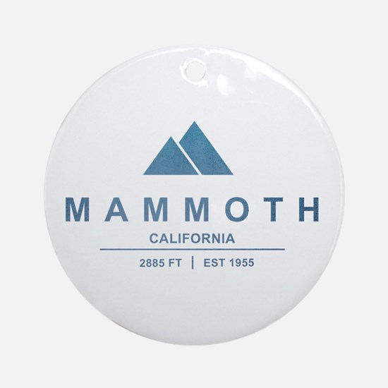 Mammoth Ski Resort California Ornament (Round)
