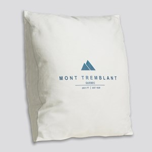 Mont Tremblant Ski Resort Quebec Burlap Throw Pill