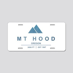 Mt Hood Ski Resort Oregon Aluminum License Plate