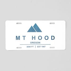 Mt Hood Ski Resort Oregon Aluminum License Plate