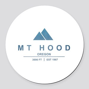 Mt Hood Ski Resort Oregon Round Car Magnet