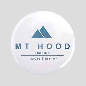 "Mt Hood Ski Resort Oregon 3.5"" Button"