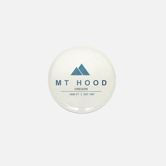 Mt Hood Ski Resort Oregon Mini Button