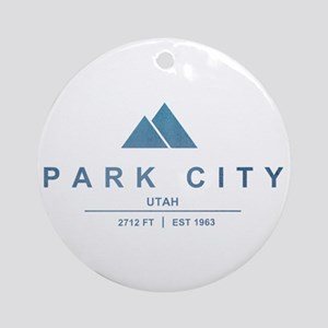 Park City Ski Resort Utah Ornament (Round)