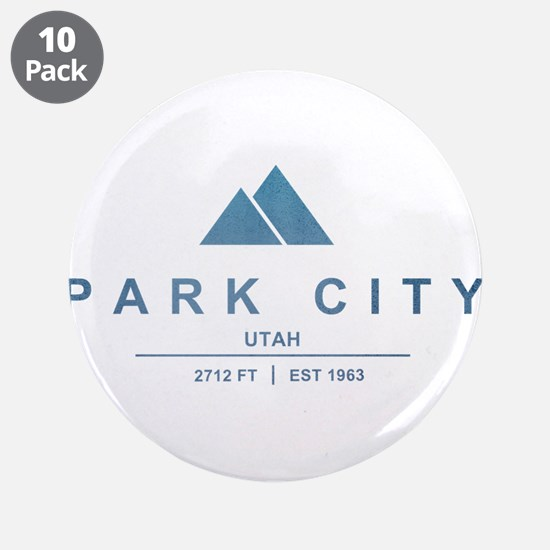 "Park City Ski Resort Utah 3.5"" Button (10 pack)"