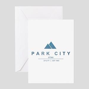 Park City Ski Resort Utah Greeting Cards