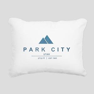 Park City Ski Resort Utah Rectangular Canvas Pillo