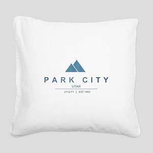 Park City Ski Resort Utah Square Canvas Pillow
