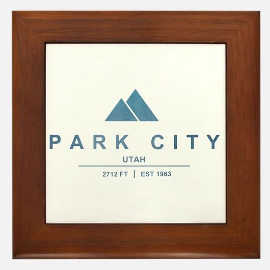 Park City Ski Resort Utah Framed Tile