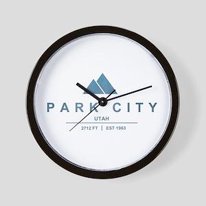 Park City Ski Resort Utah Wall Clock
