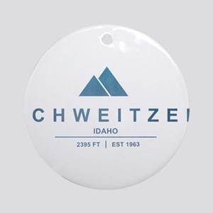 Schweitzer Ski Resort Idaho Ornament (Round)