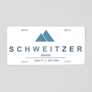 Schweitzer Ski Resort Idaho Aluminum License Plate