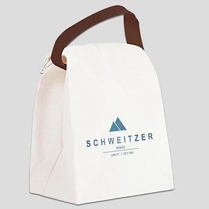 Schweitzer Ski Resort Idaho Canvas Lunch Bag