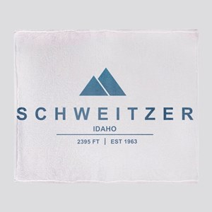 Schweitzer Ski Resort Idaho Throw Blanket