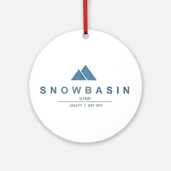Snowbasin Ski Resort Utah Ornament (Round)