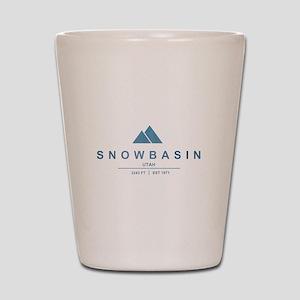 Snowbasin Ski Resort Utah Shot Glass