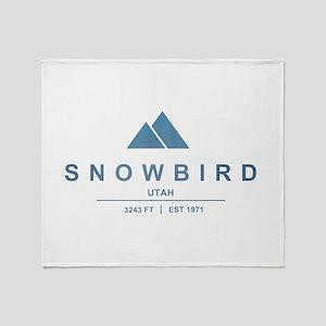Snowbird Ski Resort Utah Throw Blanket