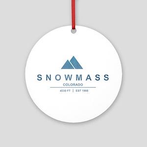Snowmass Ski Resort Colorado Ornament (Round)