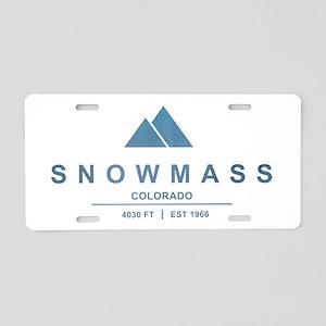 Snowmass Ski Resort Colorado Aluminum License Plat