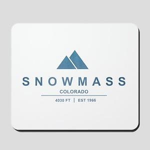 Snowmass Ski Resort Colorado Mousepad