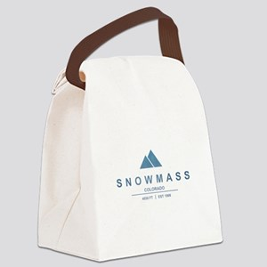 Snowmass Ski Resort Colorado Canvas Lunch Bag