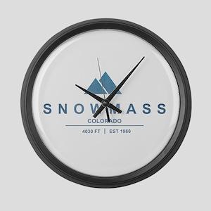Snowmass Ski Resort Colorado Large Wall Clock