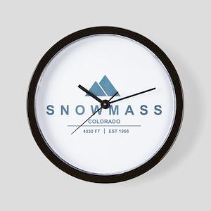 Snowmass Ski Resort Colorado Wall Clock