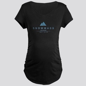 Snowmass Ski Resort Colorado Maternity T-Shirt