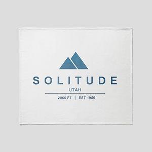 Solitude Ski Resort Utah Throw Blanket