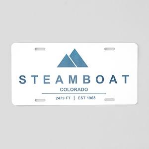 Steamboat Ski Resort Colorado Aluminum License Pla