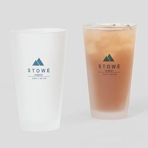 Stowe Ski Resort Vermont Drinking Glass
