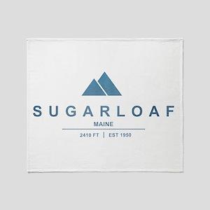 Sugarloaf Ski Resort Maine Throw Blanket