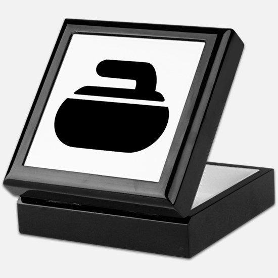 Curling stone symbol Keepsake Box