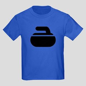 Curling stone symbol Kids Dark T-Shirt