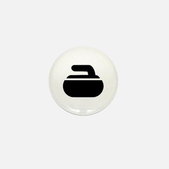 Curling stone symbol Mini Button