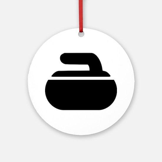 Curling stone symbol Ornament (Round)