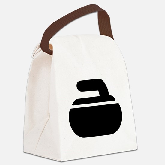 Curling stone symbol Canvas Lunch Bag