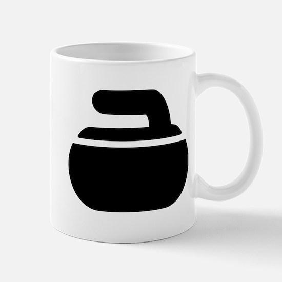 Curling stone symbol Mug