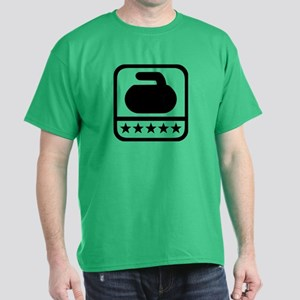 Curling stone stars Dark T-Shirt