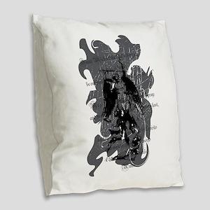 St. Michael: Protection Burlap Throw Pillow