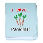 I Love Parsnips baby blanket