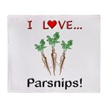 I Love Parsnips Throw Blanket