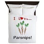 I Love Parsnips Queen Duvet